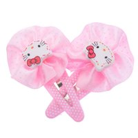 Оптовое-2015 новое 2pieces / Lot розовое и розовое Hello Kitty Hair Clip Baby Girl Hairpin