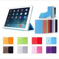 "Wholesale Iphone Folding Cases - Fold Magnetic Smart Cover + Matte Back Case For iPad Air iPad Mini iPad pro (9.7"") (12.9"") Retina Folding Case With Auto Sleep Wake 10pcs"