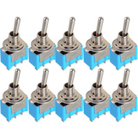 spdt toggle - 10pcs Electronic Components Blue Mini MTS Pin SPDT ON ON A VAC Miniature Toggle Switches VE067