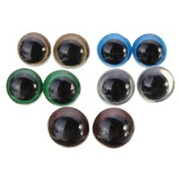Wholesale Safety Animal Eyes - High Quality New Arrival Hot 100pcs 10mm DIY Polyethylene Colorful Plastic Safety Eyes For Teddy Bear Doll Animal Puppet Crafts