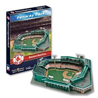 3D Puzzle Stade Modèle MajorLeagueBaseball MLB Boston Red Sox home baseball field Fenway Stadium Papier Modèle Jouets Décoration