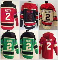 Wholesale Men S Cheap Sweatshirts - Cheap Men's Chicago Blackhawks Cheap Ice Hockey Jersey Hoodie #2 Duncan Keith Ice Hockey Hoodies  Hooded Sweatshirt