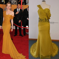 Wholesale Evening Diane Kruger - 2015 Cheap Mermaid Diane-Kruger Celebrity Drees One Strap Pleated Sweetheart Neckline Court Train Real Photos Evening Gowns