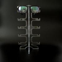 подставка для очков оптовых-Портативный ясно 5 пар солнцезащитные очки, показывая стойки держатель кадра очки дисплей стенд очки Очки витрина Бесплатная доставка