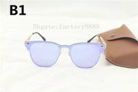 Wholesale Polyurethane Quality - High Quality Fashion 3576 Sunglasses Men Women Vassl Brand Design Quality Metal Sun Red colorful Glasses Oculos De Sol with Brown Box,Case