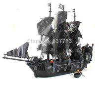 6sets / lot 87010 grandi 1184pcs 3D di mattoni eductional elementare Sets giocattoli Black Pearl Pirati Re chiarisce senza scatola