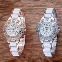 kore altın saati toptan satış-Yeni Casual Bayanlar Bilezik Altın Lüks Elmas Kadın İzle Kuvars Watch Kore Moda Trend