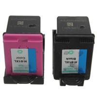 Wholesale Wholesale Deskjet Printers - 2pcs High quality Remanufactured Refillable Combo Pack Ink Cartridge Printer For HP 61XL for DeskJet 1050 2050 3050 Black Color