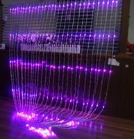 rideau de lumière achat en gros de-LARGE 3m xHigh 6m Noël Fond De Fête De Mariage Vacances Courir Eau Cascade Débit D'eau Rideau LED Lumière Corde