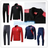 Wholesale Training Jogging Jackets - OZIL soccer tracksuits 2017 2018 Alexis Football tracksuit RAMSEY GIROUD LACAZETTE Training suit Jogging football jacket Maillot de foot