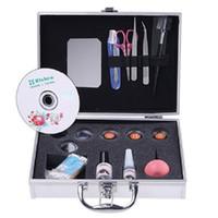 Wholesale Salon Makeup Box - Wholesale-New Professional Portable Eyelashes Extension Kit False Lashes Makeup Set with Silver Box Case Salon
