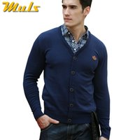 Wholesale-100% Baumwoll-Shirt-Kragen Kaschmirpullover Hemd Sweater Stitching Mile Wile-Polo-Männer Strickjacken Europe Neueste Fashion Style Homme