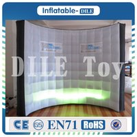 Wholesale Led Stage Backdrop Lighting - Free shipping high quality DJ stage decoration High quality lighting photo booth backdrop Led inflatable wall