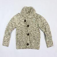 Wholesale Childrens Turtlenecks - Wholesale-Fashion knitwear sweater boys coat long sleeve cardigan sweater gray turtleneck sweaters for childrens 4C0852
