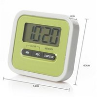 Wholesale count hours - Newly Kitchen Timer Digital Kitchen Helper Mini Digital LCD Kitchen Count Down Clip Timer Alarm Colorful Meow