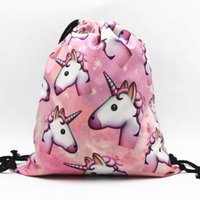 Wholesale choice cartoon resale online - 2017 New OPP drawstring bags Outdoor travel sport bag teenagers backpack style muti colors choice foldable big