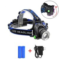 Wholesale Zoomable Cree Headlight Flashlight Led - 5000LM Cree XML-L2 XM-L T6 Led Headlamp Zoomable Headlight Waterproof Head Torch flashlight Head lamp Fishing Hunting Light