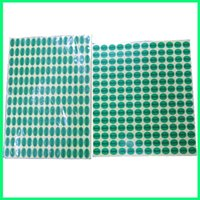 Single-Sided oval sticker labels - 18mm stock oval small green eco ROHS label printed adhesive sticker label