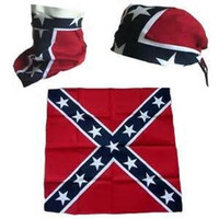 Wholesale Fast Flags - FAST DELIVERY! 100% cotton confederate rebel flag bandanas civil war battle bandana headwrap free shipping