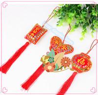Wholesale Chinese Curtains Bedrooms - 10pcs The Dragon Boat Festival Chinese knot sachets bag pendant ornaments wholesale sequins zongzi sachet ornaments