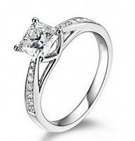 14k ct gold großhandel-Weinlese-Schmuck-echtes 14K Gold überzog echtes 1 Ct SONA Lab Diamant-Ringe für Frauen Aneis de Diamante Hochzeit Verlobungsringe