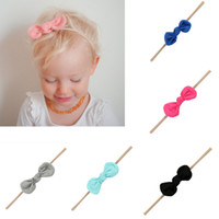 Wholesale Cute Baby Head Bands - Cotton Baby Headbands With Cute Hair Bow Strethy Soft Newborn Head band Toddler Girl Hair Accessories
