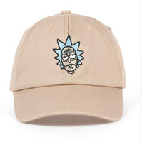 Wholesale Woman American Baseball Caps - Rick and Morty New Khaki Dad Hat Crazy Rick Baseball Cap American Anime Cotton Embroidery dad hats Snapback Anime lovers Cap Men Women