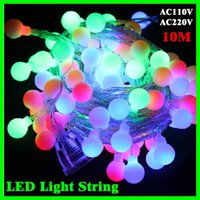Cheap solar supply led - 10m led large bulb string light waterproof outdoor patio lanterns decorated wedding celebration party supplies Christmas tree light strings