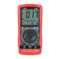 medidor de temperatura de mano al por mayor-UNI-T LCR Meter Multímetro digital de mano Prueba de capacitancia / temperatura Multitester UT58B orden $ 18no track