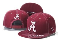 Wholesale Wholesale Top Hats - New Caps Alabama Snapback Caps College Hat Cheap Hats Mix Match Order All Caps in stock Top Quality Hat