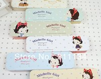 Wholesale Michelle Girl - Wholesale-Free Shipping ! 18 Pcs Michelle Girl Middle Size Tin Iron Case   Storage Case   Metal Box