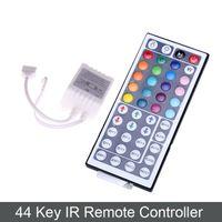 Wholesale Led Light Strip Coloured - DC 12V 44 Keys IR Remote RGB LED Mini Controller Dimmer for LED Strip 5050 3528 RGB LED SMD Strip Lights 7 colour module Free Shipping
