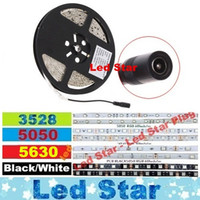Wholesale Led Strip 3528 Cold White - Waterproof 12V Led 5630 3528 5050 Strips Rope Lighting 5m Warm White Cold White Red Blue Green + DC Female Connector