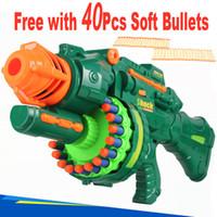 Wholesale Dart Rifles - Super Size Children's Electric Soft Bullet Gun Toy Fully Automatic Dart Blasting Semi-Auto Soft Bullet Gun 20 Turbines Sniper