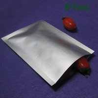Wholesale 2000pcs / Lot Heat Seal 5x7cm aluminium pur Foil Mylar sac d'emballage Open Top Argent Emballage sous vide Snack Food Pack de Storage Pouch