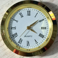 relógios japonês venda por atacado-Decorações de casa 37mm Mini Inserir Relógio Relógio de Movimento Japonês de Metal de Ouro Montar Relógio Inserir Roman Mumerals Acessórios Do Relógio