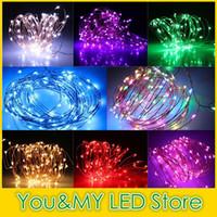 12v parti ışıkları dize ışıkları toptan satış-10M 100LEDs Bakır Tel Sıcak Beyaz LED String Peri Light Ev Fabrika Ofis Lambası DC 12V Noel Düğün Party Dekorasyon Su geçirmez