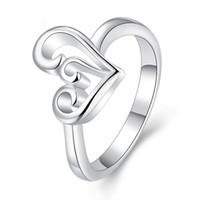ingrosso marchio del vestito dalla porcellana-Anello cuore per donne Wedding Band Dress Cina Wholes anelli di fidanzamento Moda coreano gioielli Marche 925 anelli in argento sterling massonico argento