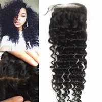 Wholesale Indian Beyonce - Best human hair soft Virgin Indian hair silk based closure deep curly beyonce curl top frontal piece G-EASY