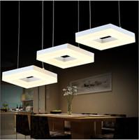 промышленные офисные фары оптовых-Офис 3-6 огни Светодиодные лампы люстры коммерческое освещение кухня проект современные светодиодные лампы класс столовая Led промышленное освещение