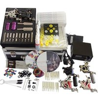 Basekey Tattoo Kit 6 Gun Machine With Power Supply Grips Pennello per pulizia Aghi per inchiostro 601