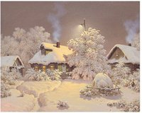 Wholesale Rooms Painted Black - New arrival 5D painting square diamond, Snow Cross Stitch kit house, DIY set, Embroidery Rhinestone, home decor sewing AZ007