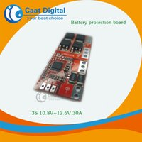 Wholesale Lithium Battery Charger Board - 3S 30A High Current Li-ion Lithium Battery 18650 Charger Protection Board 10.8V 12.6V Overcharge, over ,short circuit.