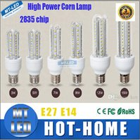 Wholesale Chip Beam - X2 HIGH PWER 110-240V SMD 2835 chip Led lights High-end corn lamp E27 E14 B22 3W 5W 7W 9w 12W 15W 360 beam angle led light corn lamp BULBS