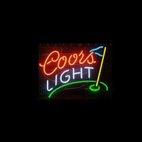 """Wholesale Coors Beer Advertising - Wholesale-New T22 COORS LIGHT GOLF beer bar neon signs 17""""x14"""" for indoor  outdoor display party lights advertising art.."""