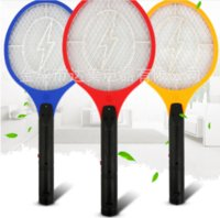 New Fashion Handheld Electronic Zanzara Bug Zapper Fly Swatter Racket Indicatore luminoso a LED per l'escursionismo