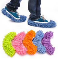 Dust Mop Slipper House Cleaner Lazy Floor Poussière Nettoyage Foot Shoe Cover 5 Couleurs Drop Shipping