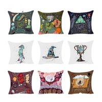 Wholesale Couch Pillow Case Covers - Harry Potter Style Dobby Polyester Cushion Cover Goblet of Fire The Deathly Hallows Throw Pillow Case couch sofa Home Decorative