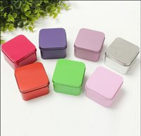 Wholesale Spring Candy Favor Boxes - 50Pcs Lot Square Tin Box Size 6.5*6.5*4CM Multi Candy Boxes Favor Holders Gift Box 2016 Spring Style