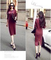 Wholesale Low Price Long Skirts - hot lale new slim long skirts knitted pullover dress dress primer winner free shipping lowest price